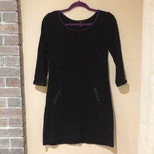 GAP cotton dress, faux leather embellishments